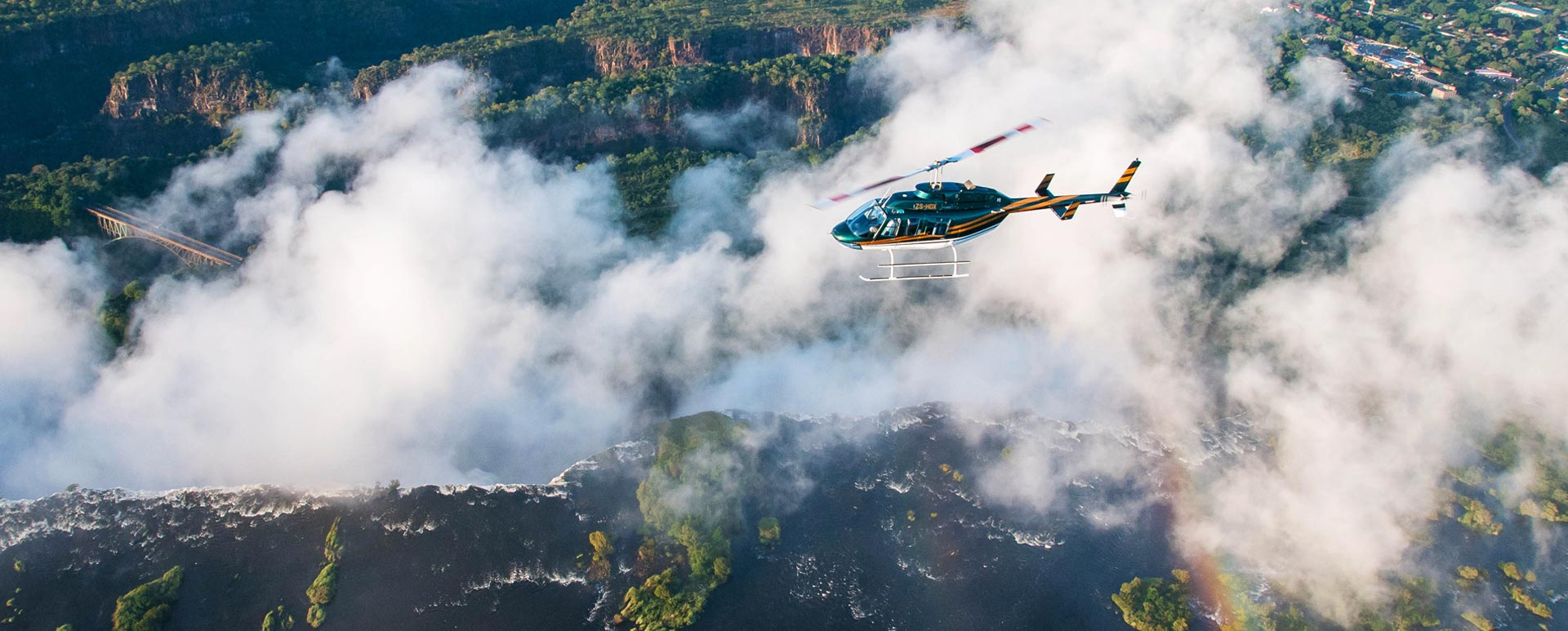 Helicopter Flip Victoria Falls